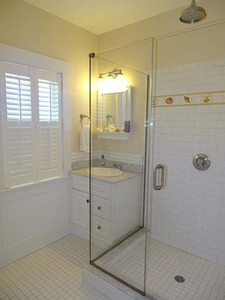 Woods Hole, Falmouth Woods Hole vacation rental - Bathroom in Bunkhouse with glass shower