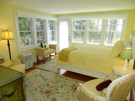 Woods Hole, Falmouth Woods Hole vacation rental - Queen bedroom with door to back yard, facing water