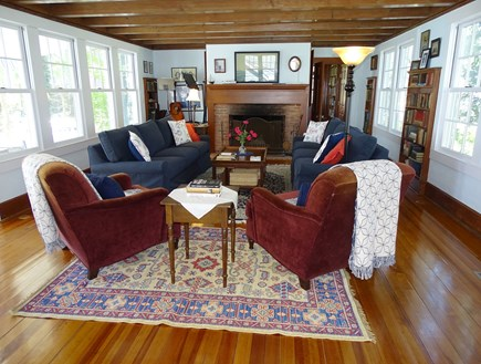 Woods Hole, Falmouth Woods Hole vacation rental - Spacious living area with vast water views