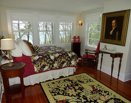 Woods Hole, Falmouth Woods Hole vacation rental - Queen bedroom in main house, with sitting area and water views