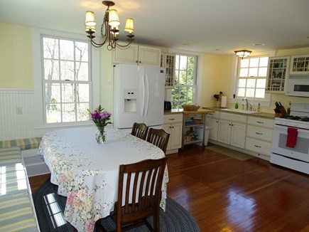 Woods Hole, Falmouth Woods Hole vacation rental - Sunny kitchen with dining area