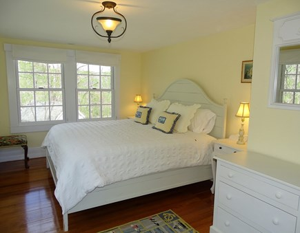 Woods Hole, Falmouth Woods Hole vacation rental - King bedroom in Main house, garden views