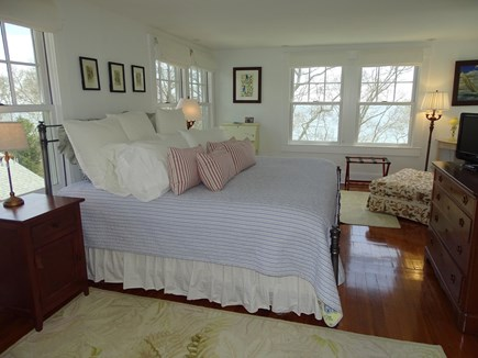 Woods Hole, Falmouth Woods Hole vacation rental - Main house master bedroom with private bath, water views