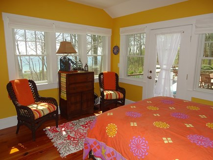 Woods Hole, Falmouth Woods Hole vacation rental - Queen bedroom with walkout to patios