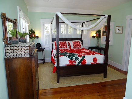 Woods Hole, Falmouth Woods Hole vacation rental - Queen bedroom overlooking patios, beach view