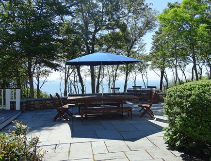 Woods Hole, Falmouth Woods Hole vacation rental - Enjoy eating your meals outside with the ocean as your view