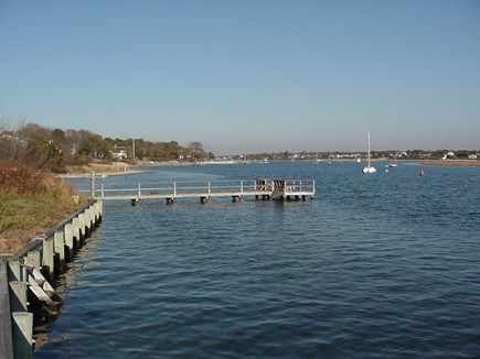 South Yarmouth Cape Cod vacation rental - Up river with stairs on private lot and Windmill Beach by pier