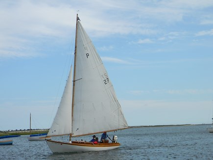 South Yarmouth Cape Cod vacation rental - Beautiful area to watch the boats go by in a private area