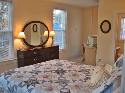 South Yarmouth Cape Cod vacation rental - Master bedroom 1st floor full bath and small office area