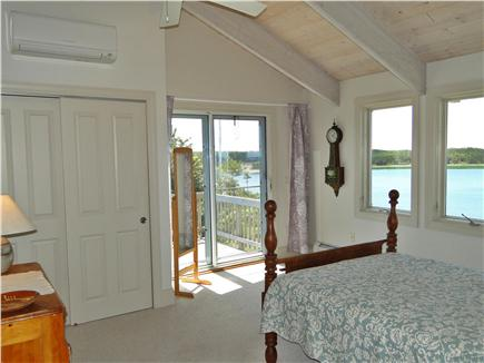 Wellfleet Cape Cod vacation rental - Bedroom with double bed and water views
