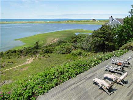 Wellfleet Cape Cod vacation rental - View from upper deck to lower deck
