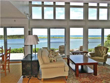 Wellfleet Cape Cod vacation rental - Living room with spectacular views