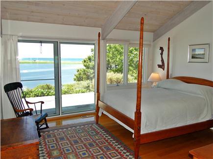 Wellfleet Cape Cod vacation rental - Master bedroom with queen bed, water views and deck to enjoy