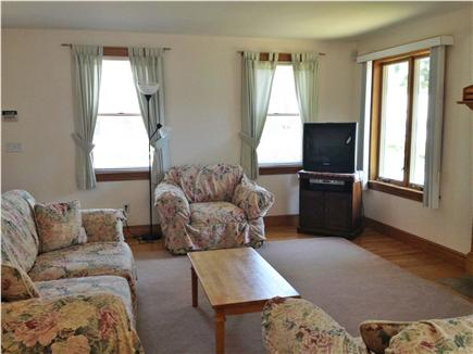 Mashpee, Popponesset Beach Cape Cod vacation rental - Family room with fireplace