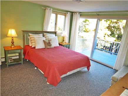 Brewster Cape Cod vacation rental - Here's the Queen master bedroom on the second level, with deck