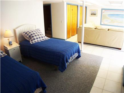 Brewster Cape Cod vacation rental - Lower level suite: twin beds, full bath and big, comfy TV lounge