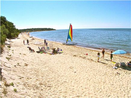 Brewster Cape Cod vacation rental - A 2 min. walk along a shaded path and voila - the beach appears!