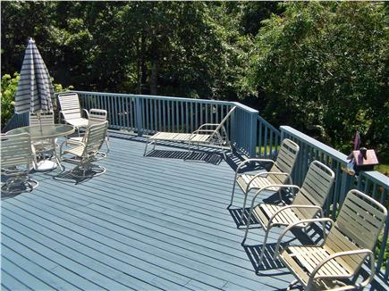Brewster Cape Cod vacation rental - Enormous private deck overlooks yard & gardens