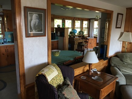 South Dennis Cape Cod vacation rental - View from living room to kitchen & dining area