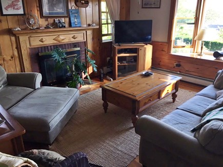South Dennis Cape Cod vacation rental - Comfortable, Bright Living Room