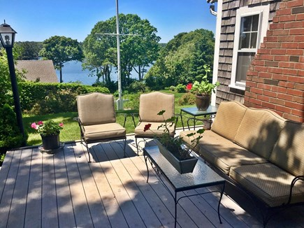 South Dennis Cape Cod vacation rental - Deck With A Grill And A View