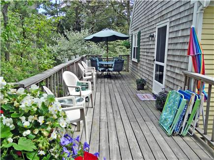 Chatham, Ridgevale Beach Cape Cod vacation rental - Large deck for outdoor relaxation and entertaining