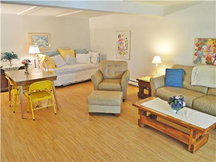 Chatham, Ridgevale Beach Cape Cod vacation rental - Spacious lower level w/ trundle bed & TV, slider to backyard