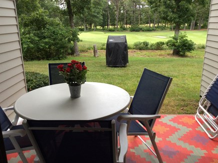 Ocean Edge, Brewster Cape Cod vacation rental - Patio with golf course view of the 5th green.