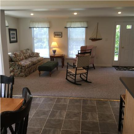Orleans Cape Cod vacation rental - Open, cheerful Living Room, sunny deck off dining area