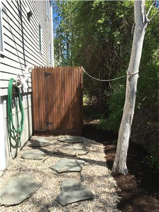Orleans Cape Cod vacation rental - Roomy private outdoor shower with hot/cold water