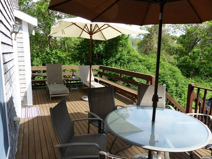 Orleans Cape Cod vacation rental - Large deck with sun or shade. Plenty of privacy and seating for 6