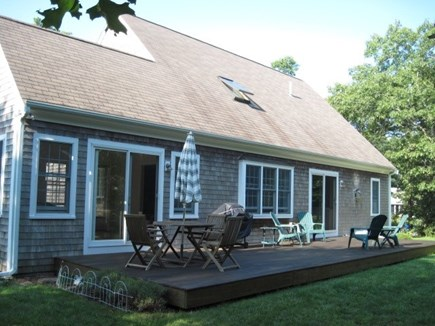 Eastham Cape Cod vacation rental - Large Private Back Yard and Deck Surrounded by Woods