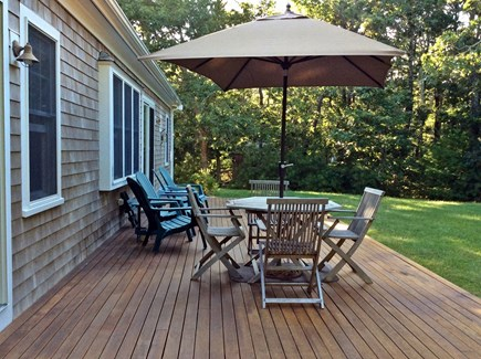 Eastham Cape Cod vacation rental - Back deck and quiet back yard