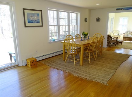 Eastham Cape Cod vacation rental - Dining room opens to deck through sliding glass doors