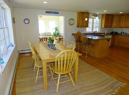 Eastham Cape Cod vacation rental - Dining room, located between sun room and living room