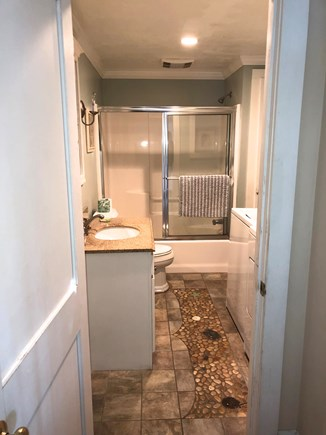 Dennis Port Cape Cod vacation rental - First Floor Bath with Washer & Dryer