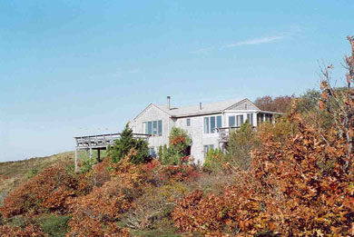 Truro Cape Cod vacation rental - Autumn view of house from opposite angle