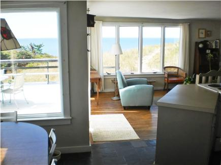 Truro Cape Cod vacation rental - Dining to left, kitchen to right, living room to rear right