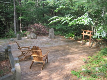 New Seabury New Seabury vacation rental - Peaceful Garden sitting area in back of house for reflection