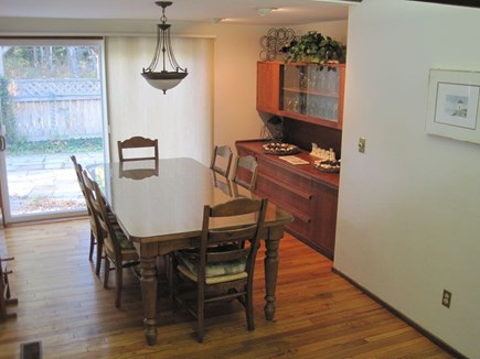 New Seabury New Seabury vacation rental - Dining room area with Sliders to front Patio & Gas Barbeque