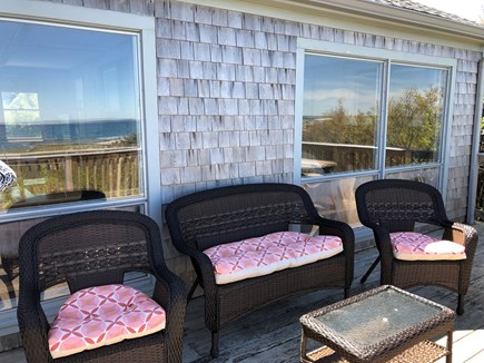 East Sandwich Cape Cod vacation rental - Upper deck with reflection of the private beach
