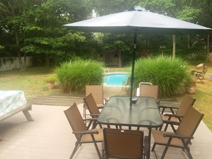 Falmouth Cape Cod vacation rental - View of the deck & pool