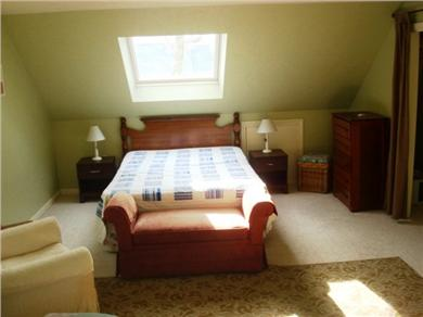Falmouth Cape Cod vacation rental - BR3, has queen & 2 twin beds, window A/C, w/w carpet, skylight!