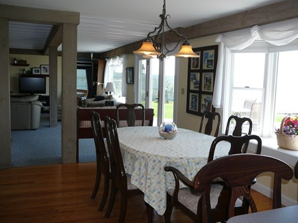 Harwich Port Cape Cod vacation rental - Dining Room & Family Room overlook the beach!