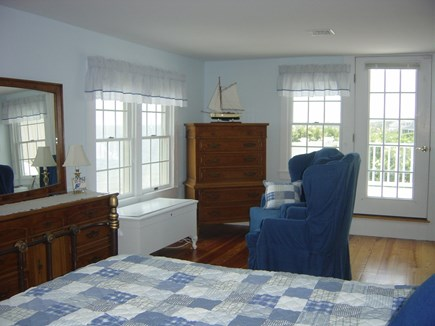 Harwich Port Cape Cod vacation rental - Master Bedroom with water views & deck!