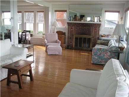 Plymouth Priscilla Beach 6 mil MA vacation rental - Living room with wide ocean views
