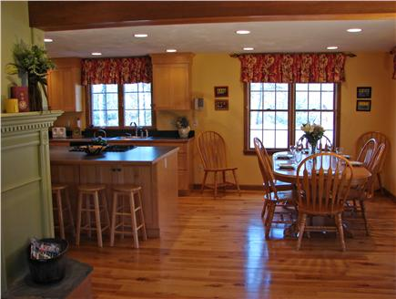 East Harwich Cape Cod vacation rental - Large dining area adjacent to modern kitchen