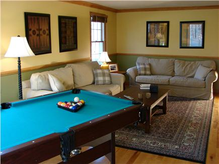 East Harwich Cape Cod vacation rental - Recreation room with cable tv, DVD, pool table and slider to pool