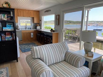 Wellfleet Harbor Cape Cod vacation rental - Breakfast counter overlooking harbor