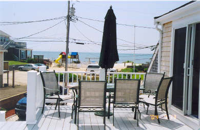 West Dennis Cape Cod vacation rental - Deck for 4th&5th Guest Rooms - Ocean & Pond Views